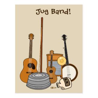 Cartão Postal Instrumentos da banda de jarro