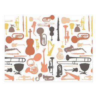 Cartão Postal Instrumentos de música