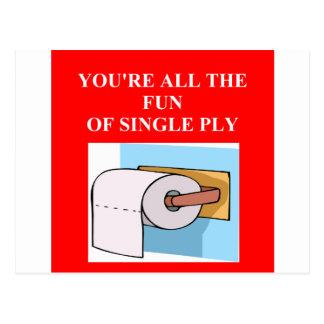 Cartão Postal insulto do papel higiénico