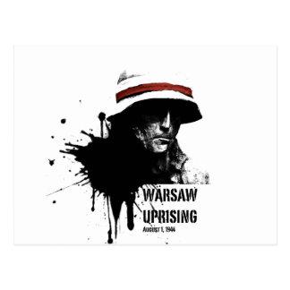 Cartão Postal insurreição de Varsóvia
