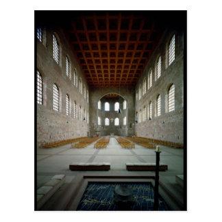 Cartão Postal Interior da basílica, ANÚNCIO do século IV