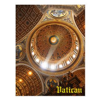 Cartão Postal Interior da basílica de San Pietro em Roma, Italia