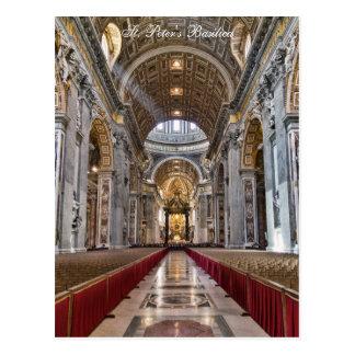 Cartão Postal Interior da basílica de St Peter