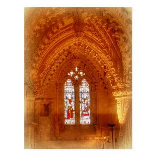 Cartão Postal Interior da capela de Rosslyn