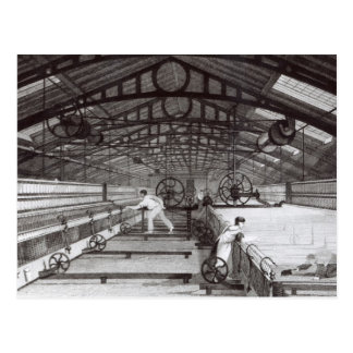 Cartão Postal Interior de um moinho de algodão