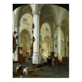 Cartão Postal Interior do Oude Kerk em Delft