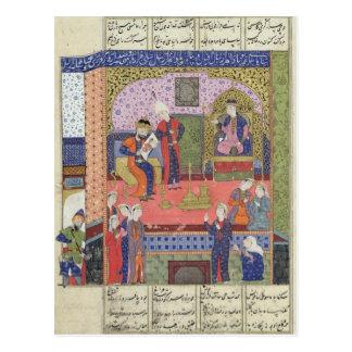 Cartão Postal Interior do rei do palácio de Persia