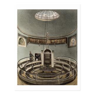 Cartão Postal Interior do teatro da anatomia, Cambridge, para