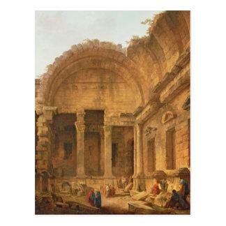 Cartão Postal Interior do templo de Diana em Nimes, 1787