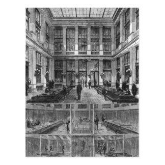 Cartão Postal Interior e secção transversal