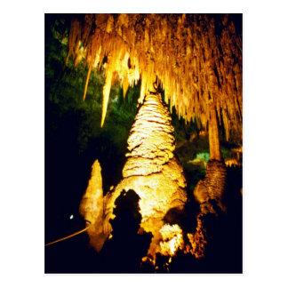 Cartão Postal Interior iluminado do parque nacional das cavernas