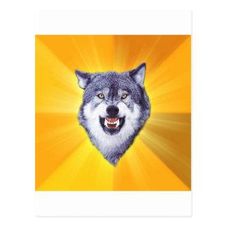 Cartão Postal Internet animal Meme do conselho do lobo da