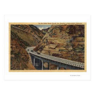 Cartão Postal Interrupção da rota de Ridge, indo a Bakersfield