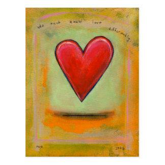 Cartão Postal Intitulado:  Do amor coração bonito diferentemente