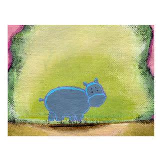 Cartão Postal Intitulado:  Meu hipopótamo sabe