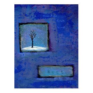 Cartão Postal Intitulado:  (No movimento) resto - tempo ocioso