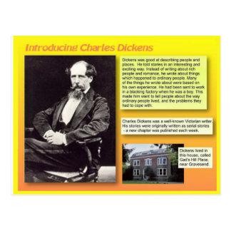 Cartão Postal Introduzindo Charles Dickens