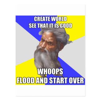 Cartão Postal Inundação do deus do troll