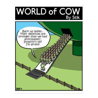 Cartão Postal Invasão do leite Squirters