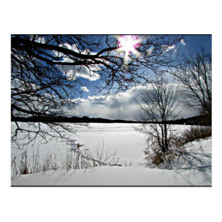 """Cartão Postal """"Inverno ao longo do Mohawk """""""