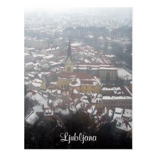 Cartão Postal inverno de ljubljana