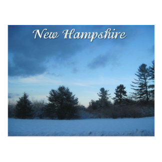 Cartão Postal Inverno de New Hampshire