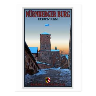Cartão Postal Inverno de Nürnberg - de Heidenturm