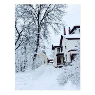 Cartão Postal Inverno do branco de Vermont