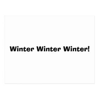 Cartão Postal Inverno do inverno do inverno!