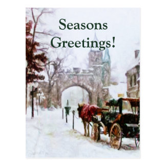 Cartão Postal Inverno em Cidade de Quebec pelo Mac de Shawna