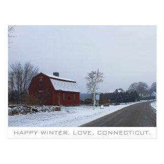 Cartão Postal Inverno em Connecticut