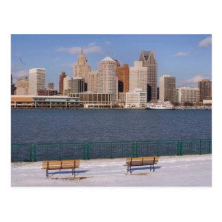 Cartão Postal inverno em detroit