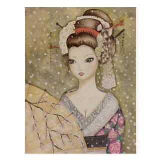 Cartão Postal Inverno em Kyoto