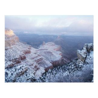 Cartão Postal Inverno na borda sul, nacional do Grand Canyon