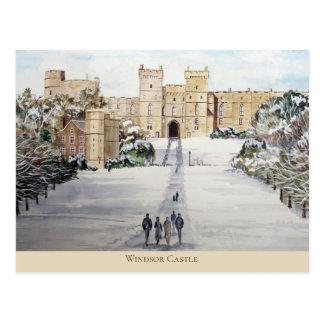 Cartão Postal Inverno na pintura de paisagem do castelo de