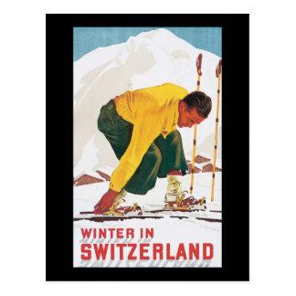 Cartão Postal Inverno na suiça