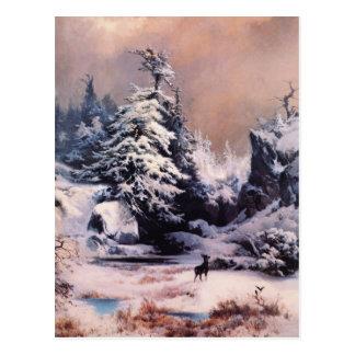 Cartão Postal Inverno nas Montanhas Rochosas - 1867