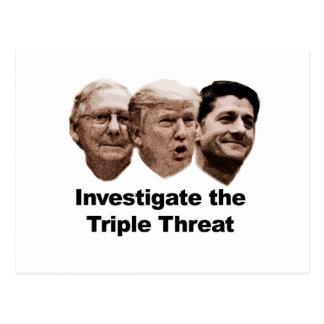 Cartão Postal Investigue a ameaça tripla