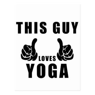 Cartão Postal ioga destes amores da cara