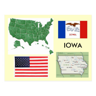 Cartão Postal Iowa, EUA