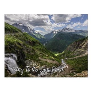Cartão Postal Ir ao parque nacional de geleira da estrada de Sun
