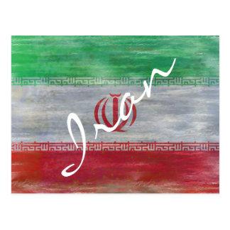 Cartão Postal Irã afligiu a bandeira iraniana