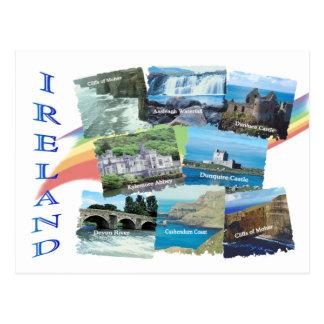 Cartão Postal IRELAND PITORESCO oito imagens cénicos & arco-íris
