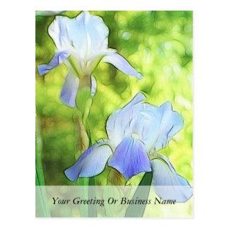 Cartão Postal Íris azuis românticas