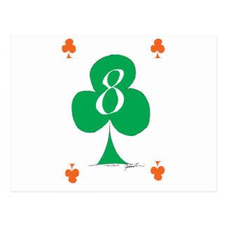 Cartão Postal Irlandês afortunado 8 dos clubes, fernandes tony
