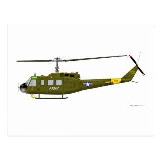 Cartão Postal Iroquois de Bell UH-1D