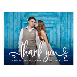 Cartão Postal Irrisório e encante o obrigado Wedding de | você