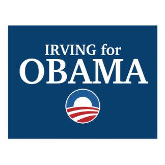 Cartão Postal IRVING para o costume de Obama sua cidade