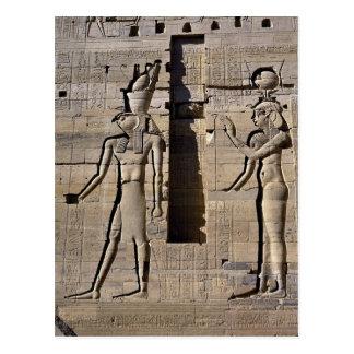 Cartão Postal Isis e Horus, Egipto