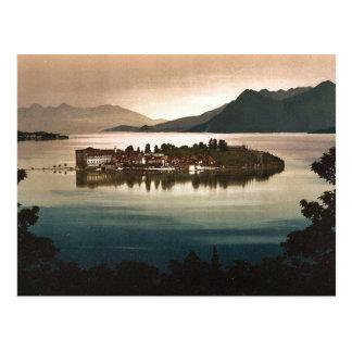 Cartão Postal Isola Bella pelo luar, Maggiore, lago de, Italia